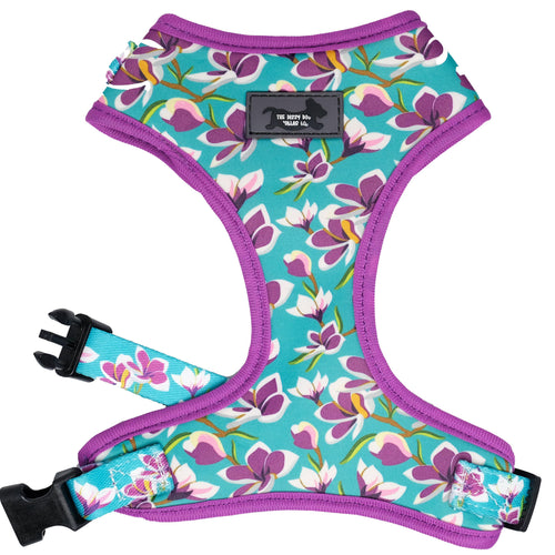 DOG HARNESS - Frangipani - Neck Adjustable Dog Harness (Premade)