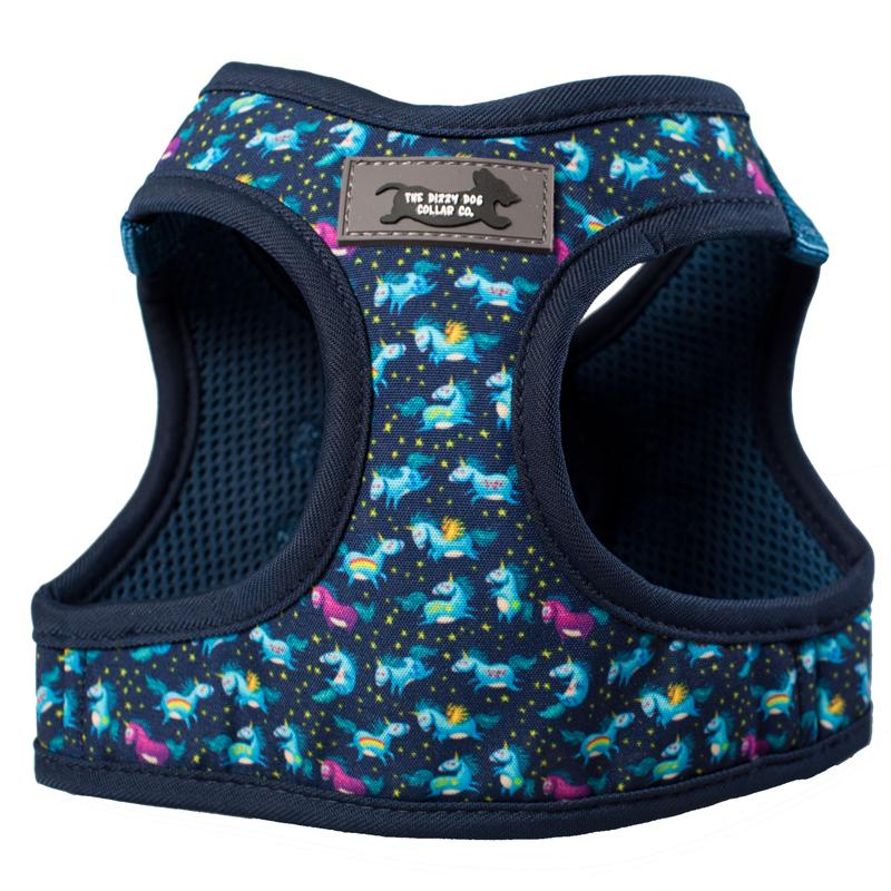 DOG HARNESS - Navy Unicorn - Step In Dog Harness-Dizzy Dog Collars-Dizzy Dog Collars