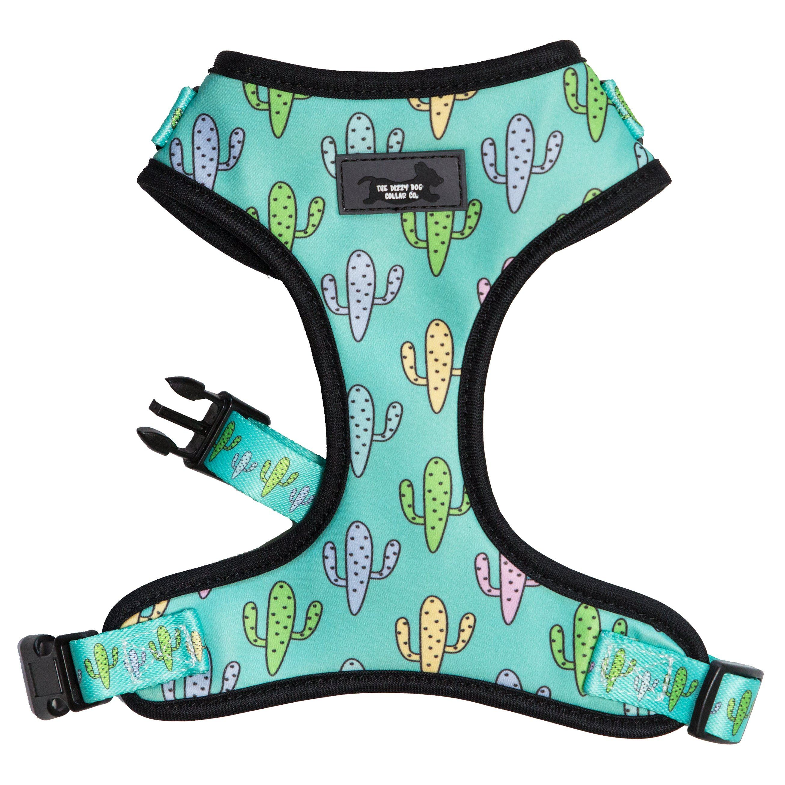 adjustable dog harness, dog harness, cactus dog harness, pastel dog harness,  best dog harness online, cute dog harness