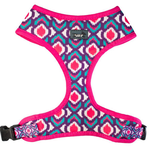 DOG HARNESS - Pink Ikat - Standard Dog Harness (Premade)