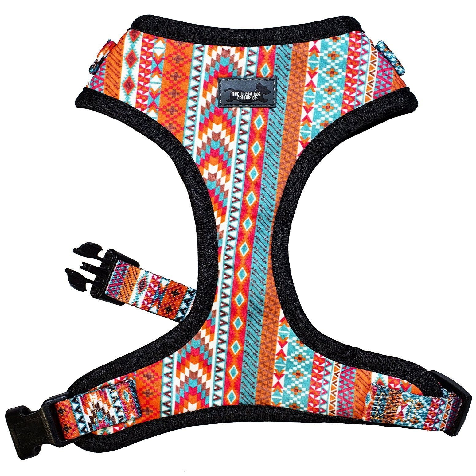 aztec dog collar, aztec dog harness, adjustable dog harness, best dog harness for small dogs