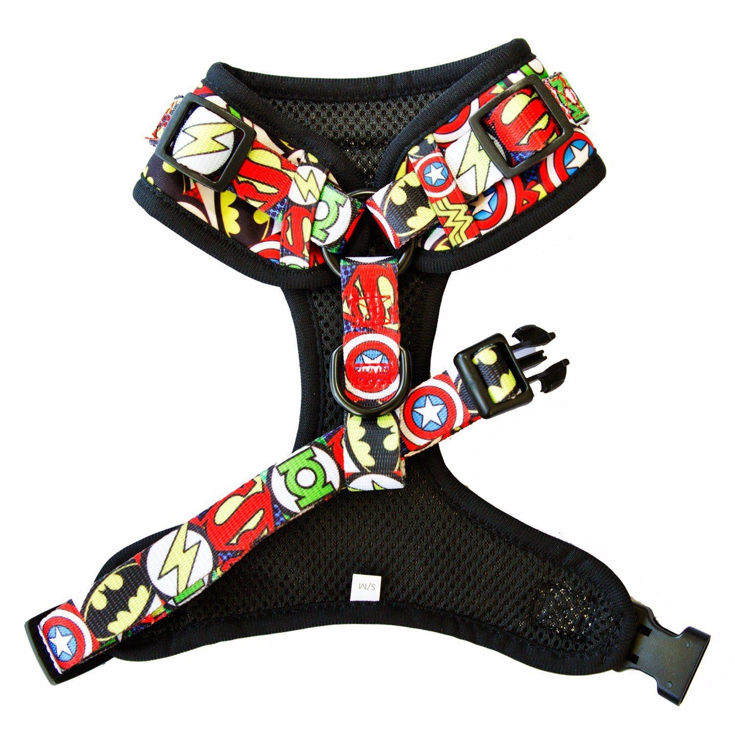 DOG HARNESS - Superhero- Adjustable-Harness-Dizzy Dog Collars-Small-Dizzy Dog Collars