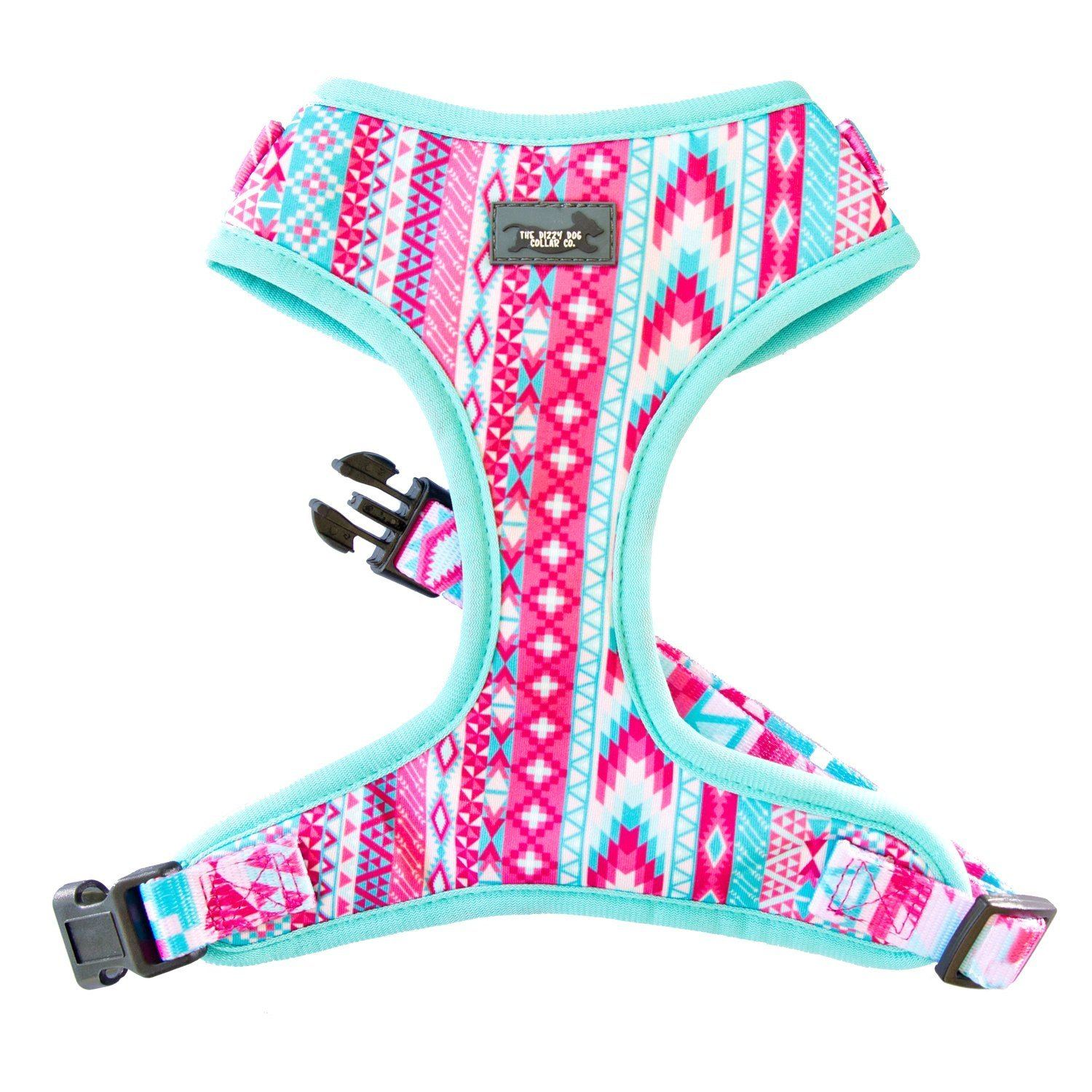 pastel aztec dog harness