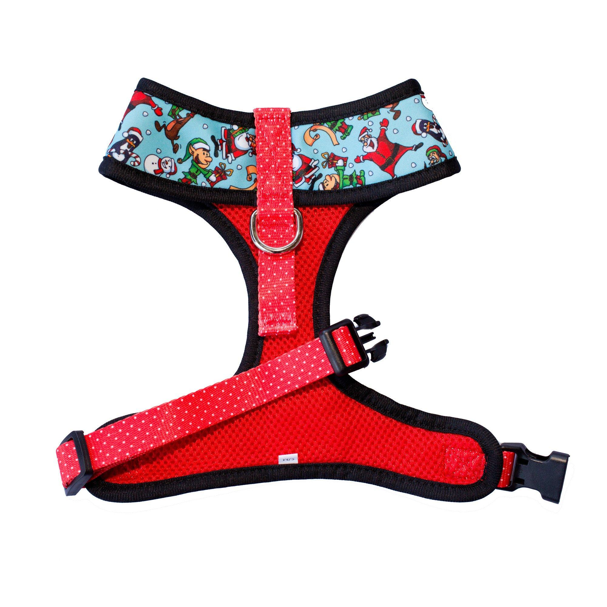 Saint Nick (Christmas Dog Harness) - Standard Dog Harness-Harness-Dizzy Dog Collars-Extra Small-Dizzy Dog Collars