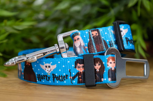 Dog Car Seatbelt / Dog Car Restraint Tether - Harry Potter (Handmade to order)