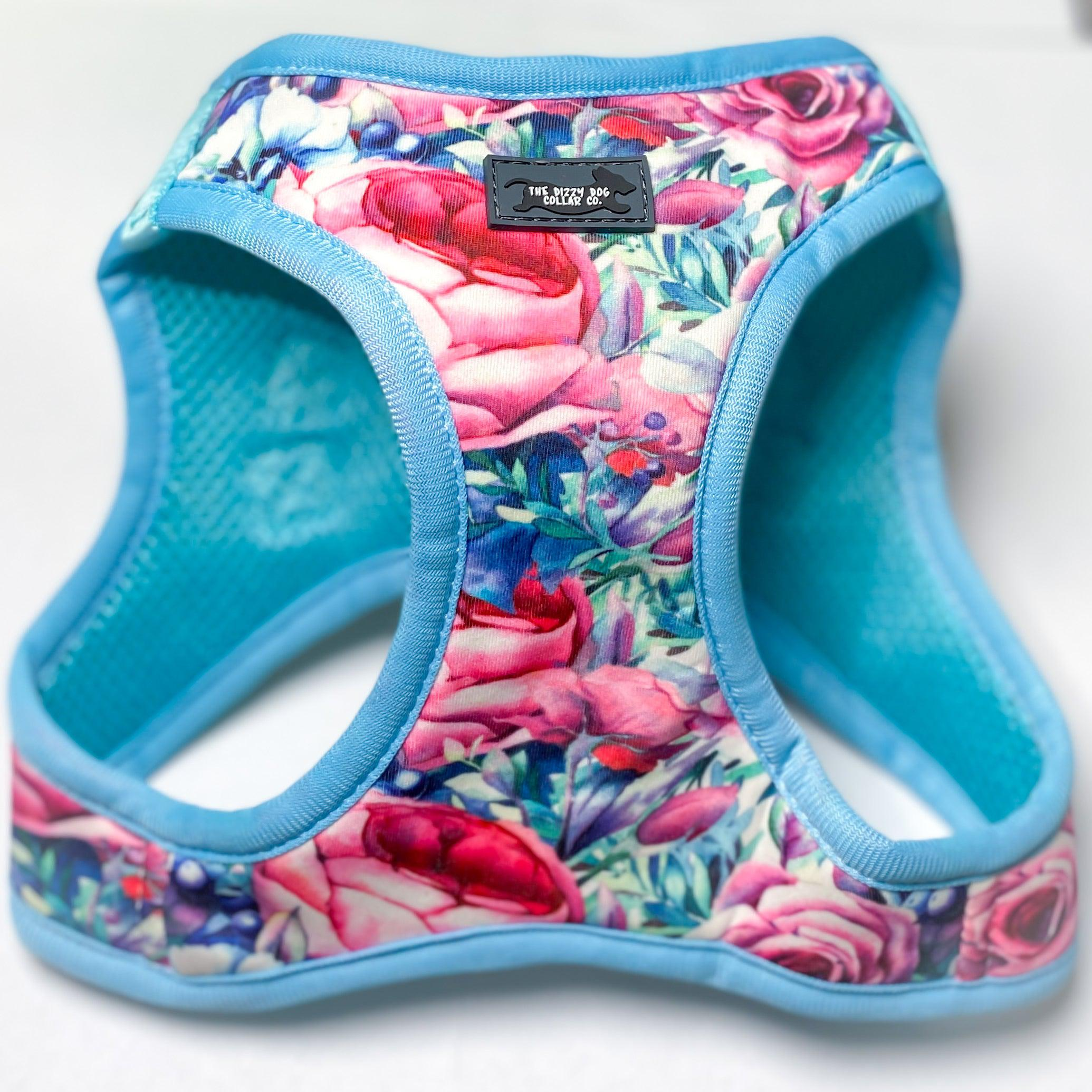DOG HARNESS - Blossom Rose - Step In Dog Harness-Harness-Dizzy Dog Collars