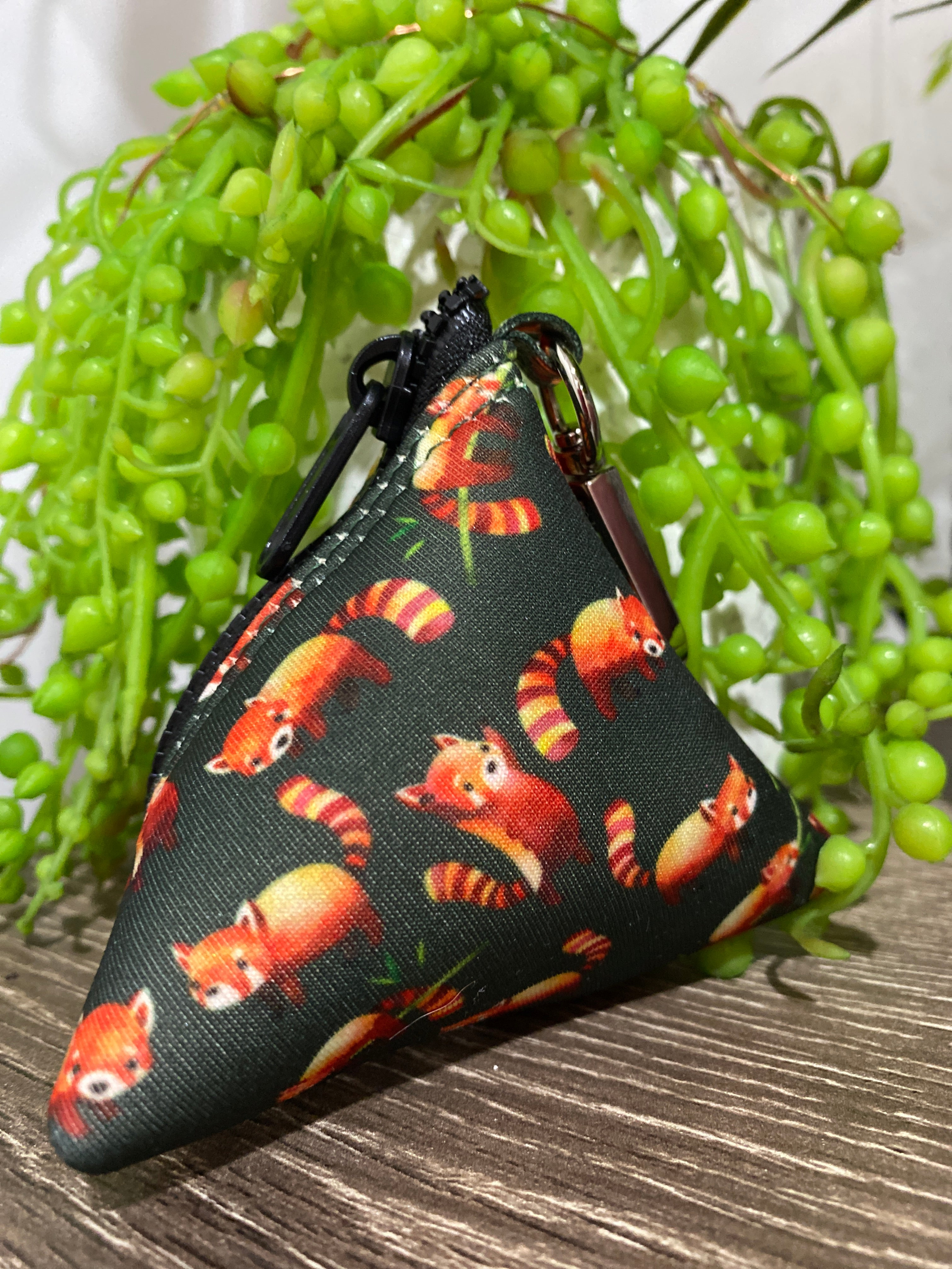 Red Panda Pocket- For Poop Bags, Treat and/or Keys/Coins-Dizzy Dog Collars