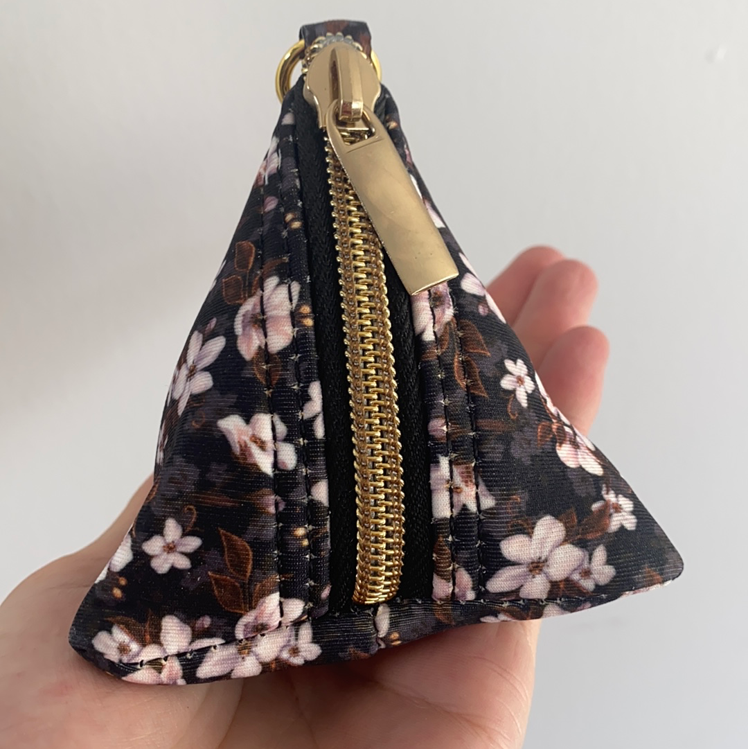 Midnight Cherry Blossoms Pocket - For Poop Bags, Treat and/or Keys/Coins-Dizzy Dog Collars