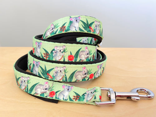 Koala Gala  Dog Leash (handmade to order)