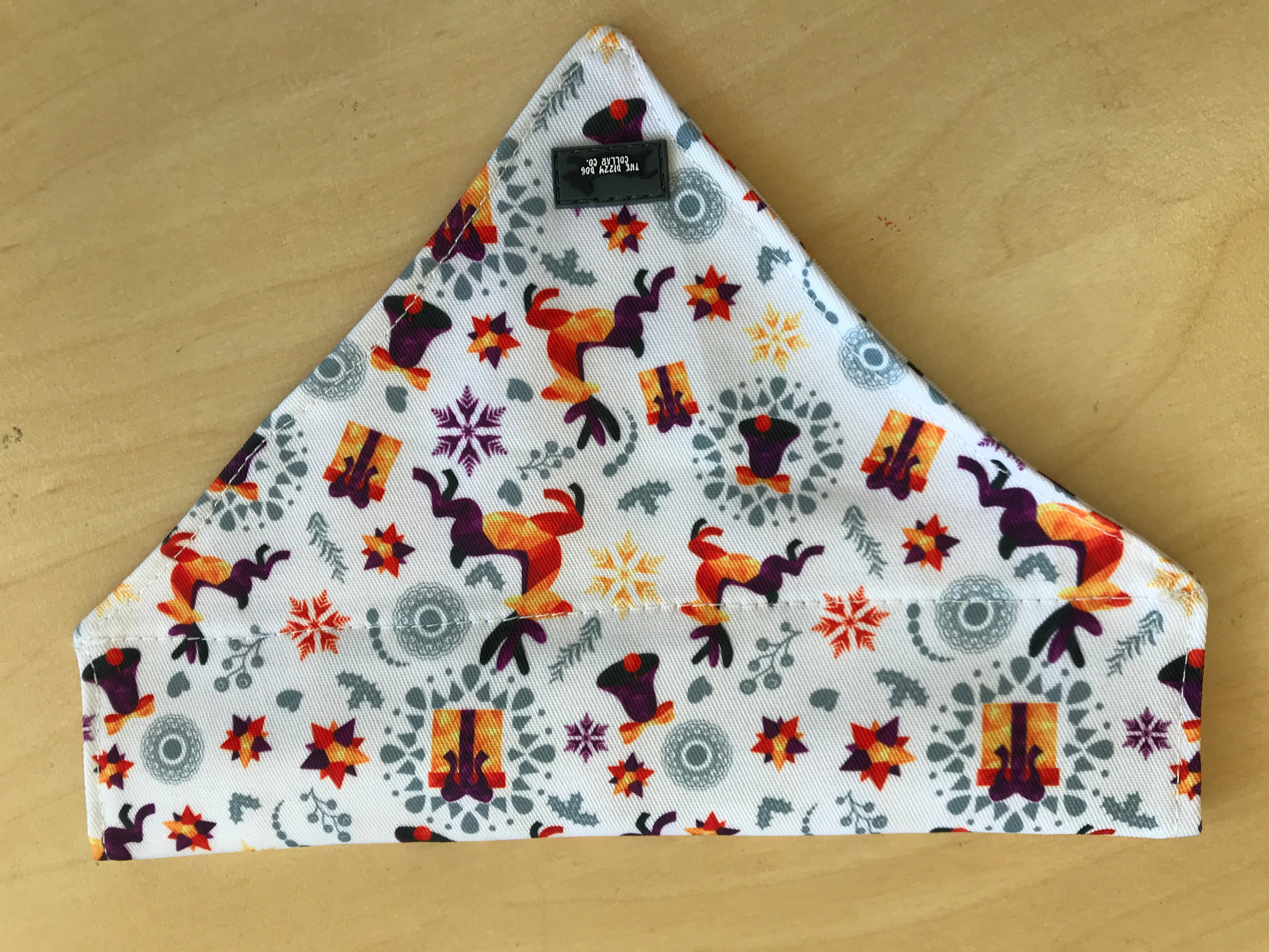 Reindeers & Presents - Slip on Dog Bandana-Dizzy Dog Collars