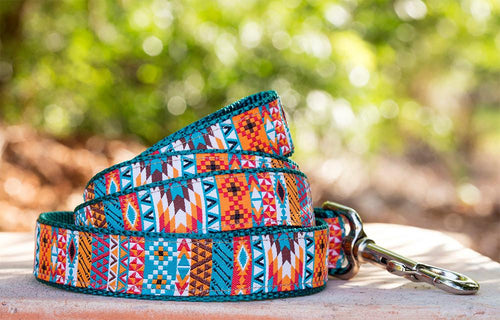 Aztec / Mexican Dog Leash (Handmade to order)