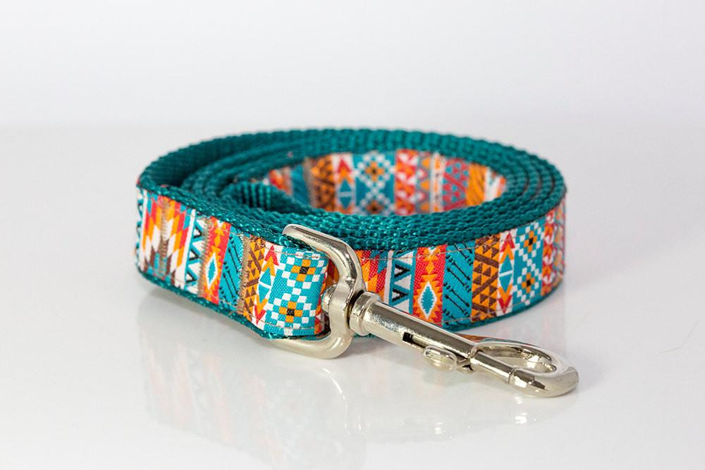 Aztec / Mexican Dog Leash-Dizzy Dog Collars-Dizzy Dog Collars