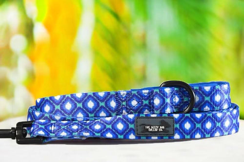 Blue Ikat - Dog Leash