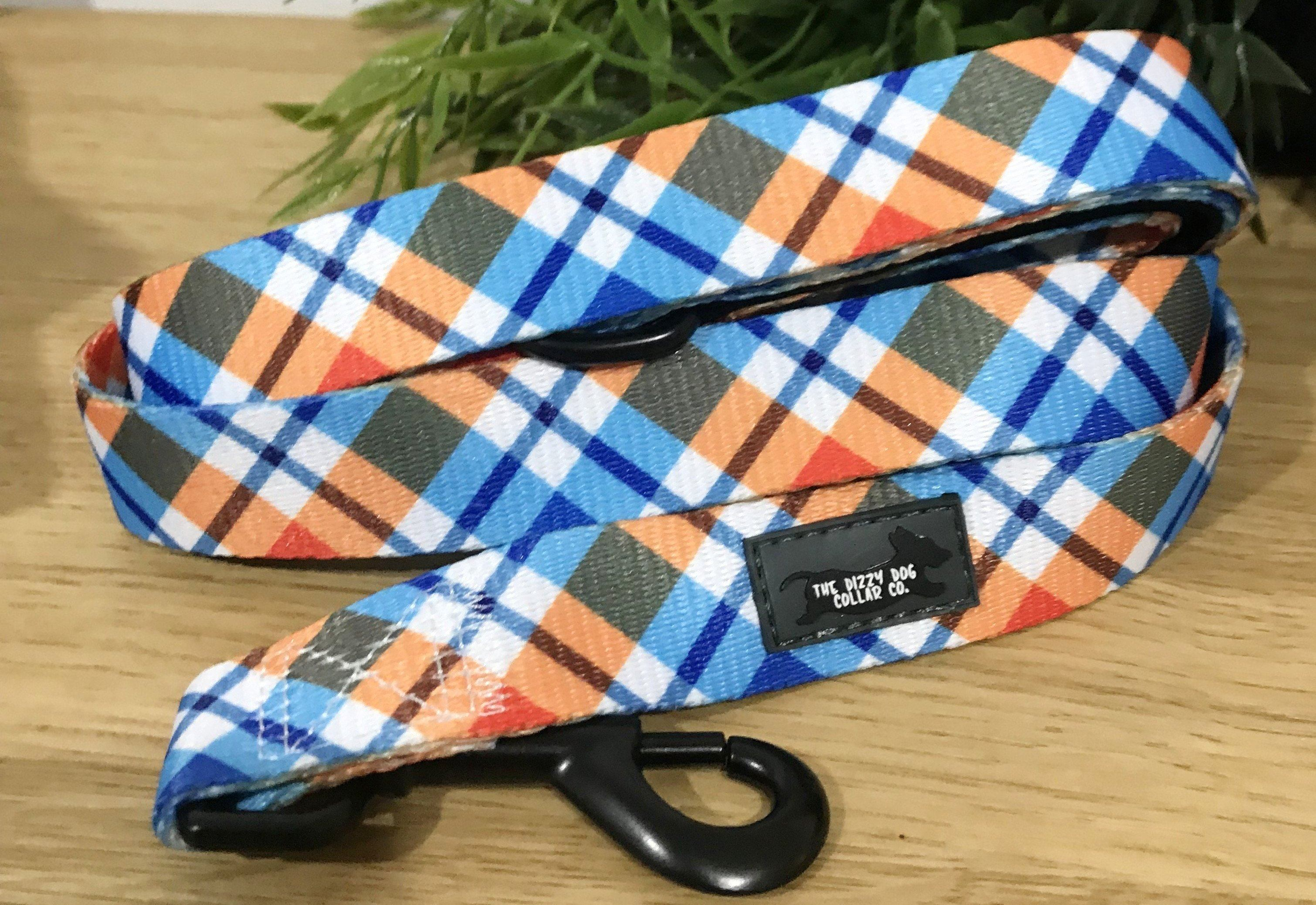 Dog Leash - Roma Plaid-Dizzy Dog Collars-Dizzy Dog Collars
