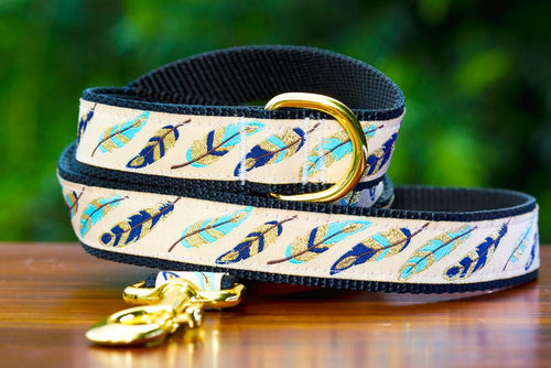 Golden Feathers Dog Leash (Handmade to order) *Currently unavailable whilst we catch up on handmade orders*