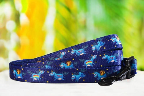 Navy Unicorn - Dog Leash