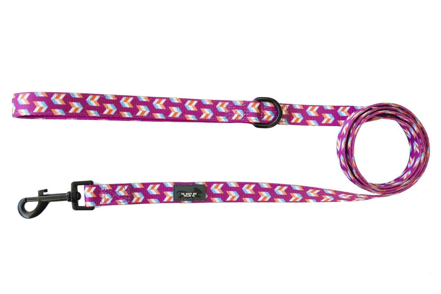 Pink Herringbone - Dog Leash-Dizzy Dog Collars-Dizzy Dog Collars