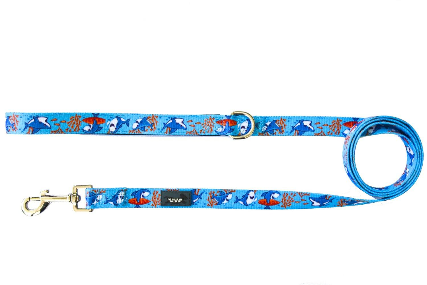 Sharks - Dog Leash-Dizzy Dog Collars-Dizzy Dog Collars