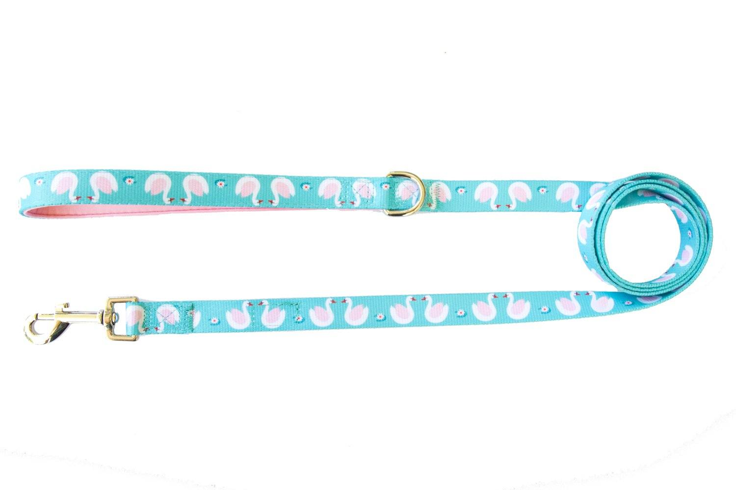 Swans - Dog Leash-Dizzy Dog Collars-Dizzy Dog Collars