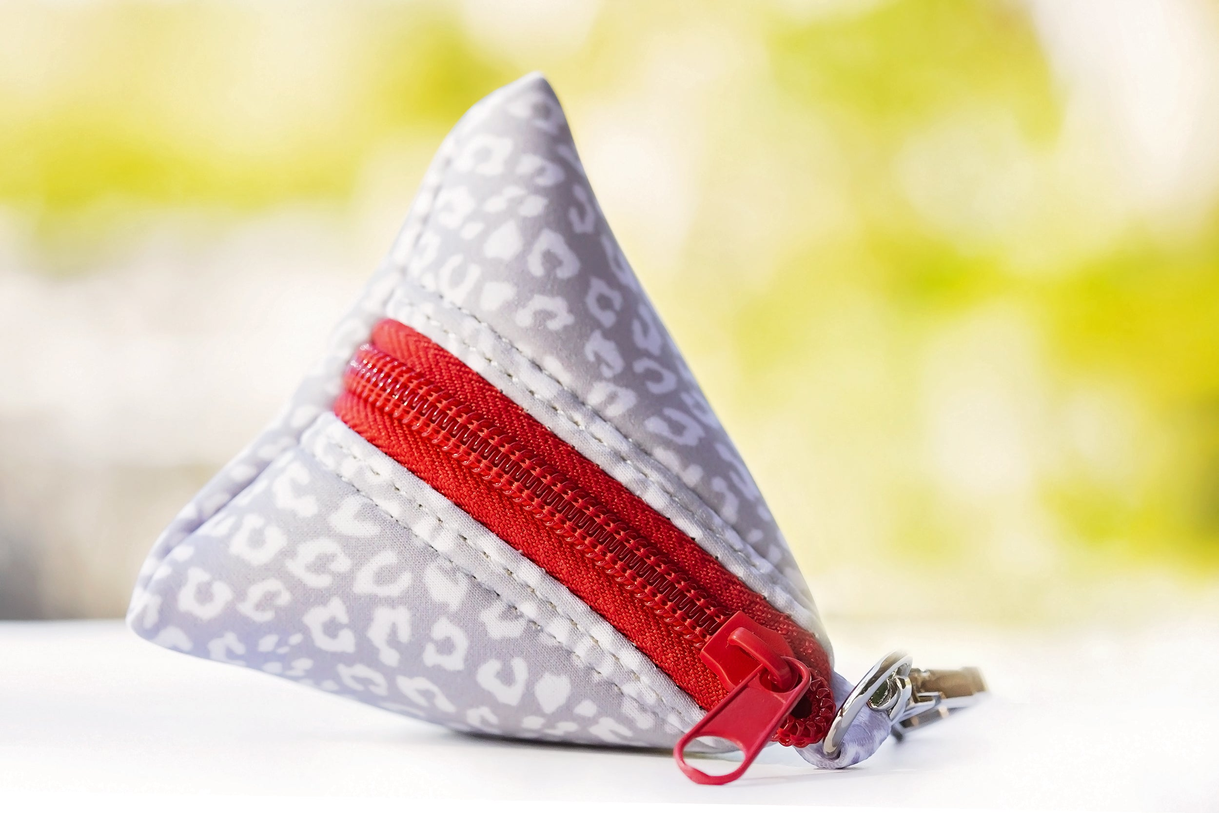 Snow Leopard Pocket- For Poop Bags, Treat and/or Keys/Coins-Dizzy Dog Collars