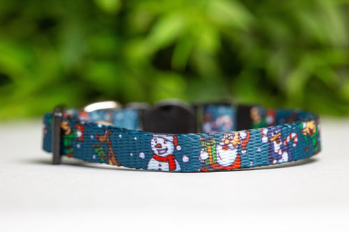Let it Snow Cat Collar / Toy Breed Dog Collar