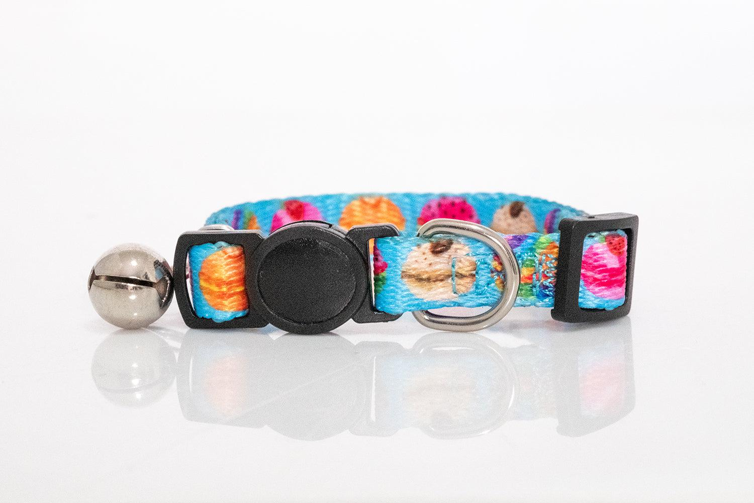 Macaroons Cat Collar / Toy Breed Dog Collar-Dizzy Dog Collars-Dizzy Dog Collars