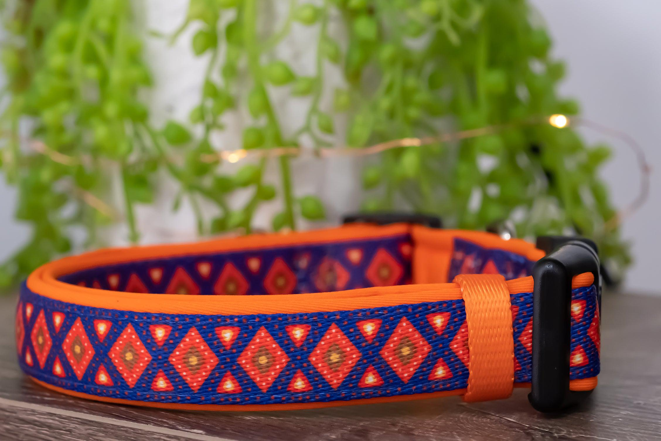 Matombe Aztec Dog Collar (Premade)-Dog Collar-Dizzy Dog Collars