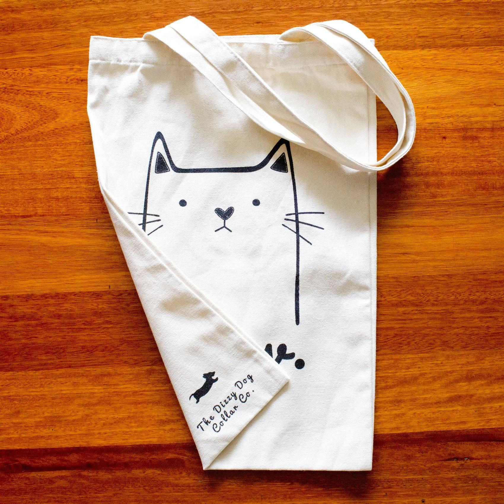 """Meow"" Tote Bag-Dizzy Dog Collars-Dizzy Dog Collars"
