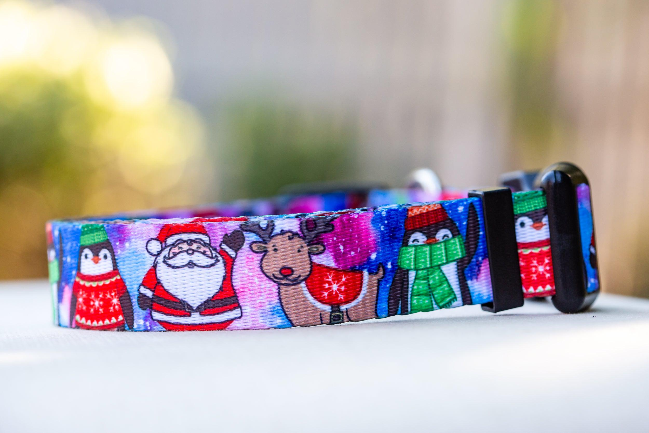Christmas Carnival Dog Collar / Christmas Dog Collar (Premade)-Dog Collar-Dizzy Dog Collars