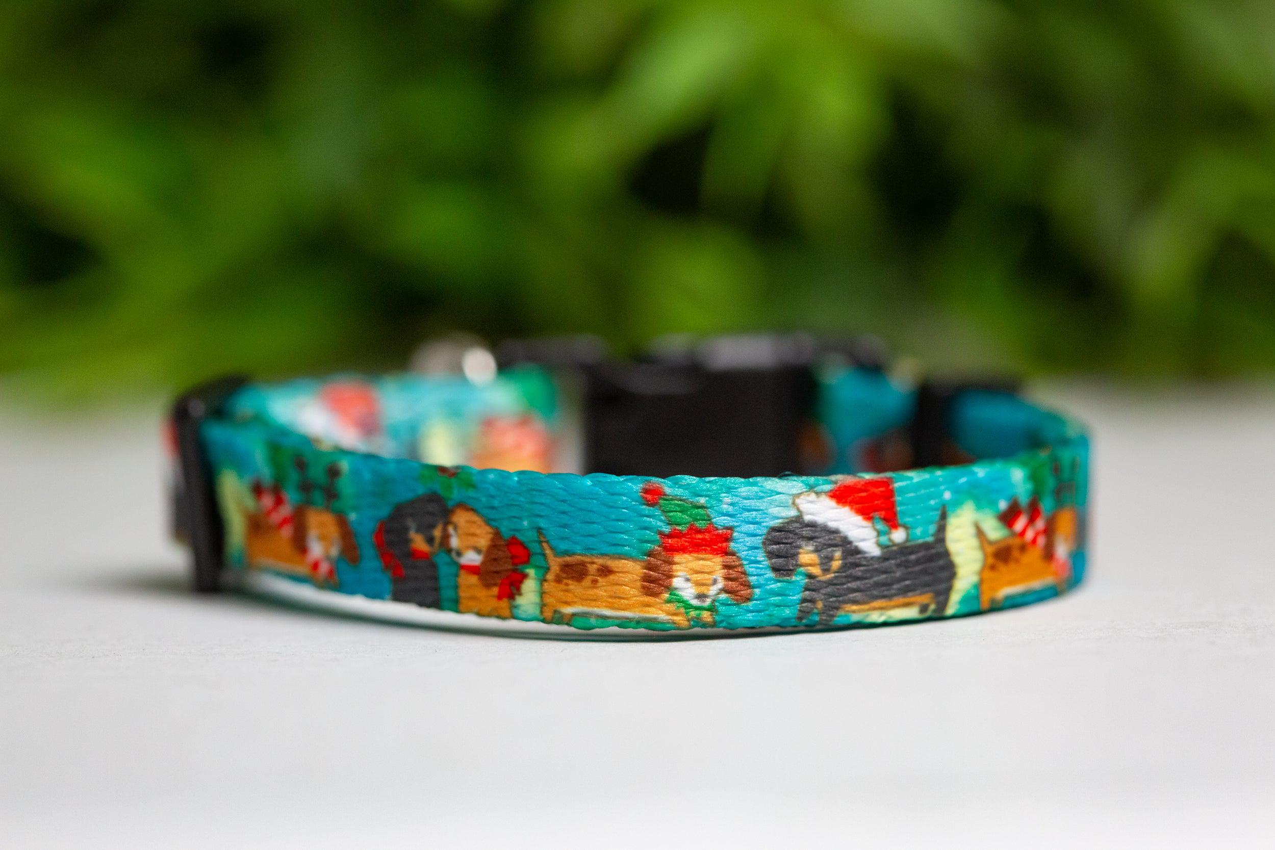 Mutts 'n' Mistletoe / Toy Breed Dog Collar-Dizzy Dog Collars