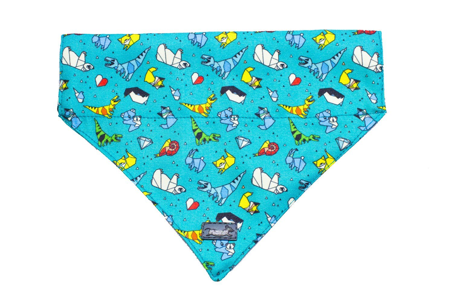 Origami Ark Dog Bandana - Slip on / Over the collar bandana-Dizzy Dog Collars-Dizzy Dog Collars