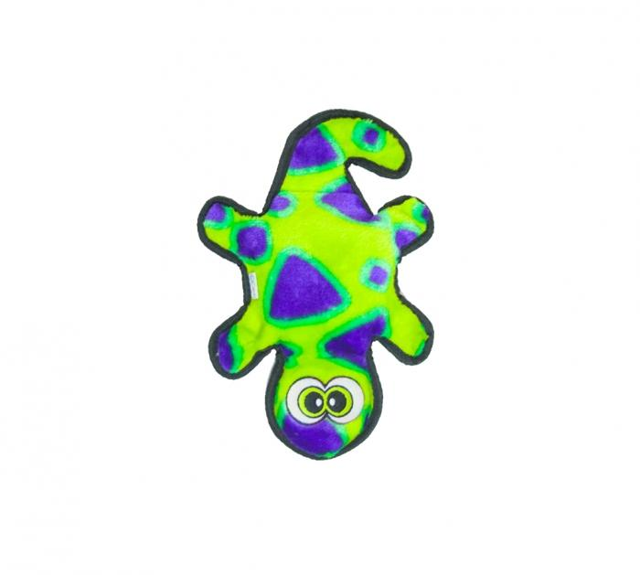 Outward Hound INVINCIBLE GECKO-Green and Purple (2 squeak)-Dizzy Dog Collars-Dizzy Dog Collars