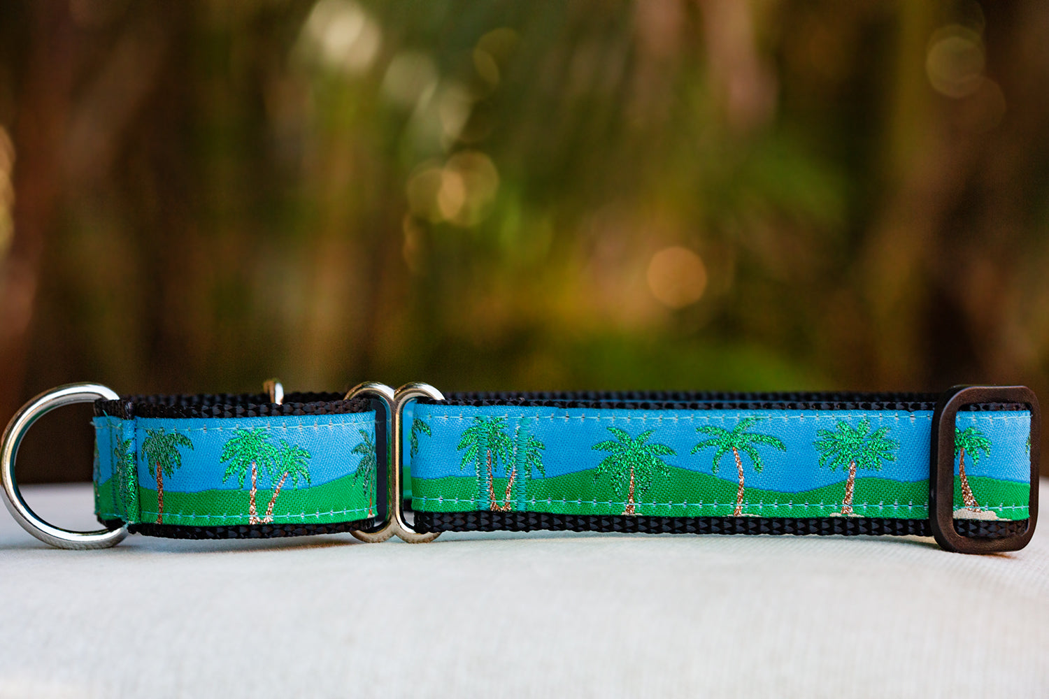 Glitter Palms Martingale (Webbing or Half Check -Nylon)-Dog Collar-Dizzy Dog Collars