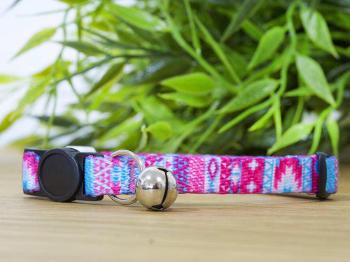 Pastel Aztec Cat Collar / Toy Breed Dog Collar