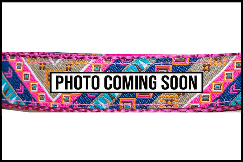 Pink Aztec Dog Lead (Nylon)