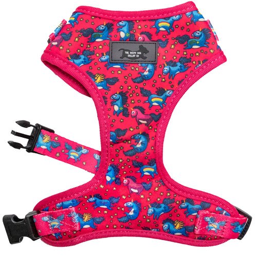DOG HARNESS - Unicorn Dog Harness - Neck Adjustable (medium only left)