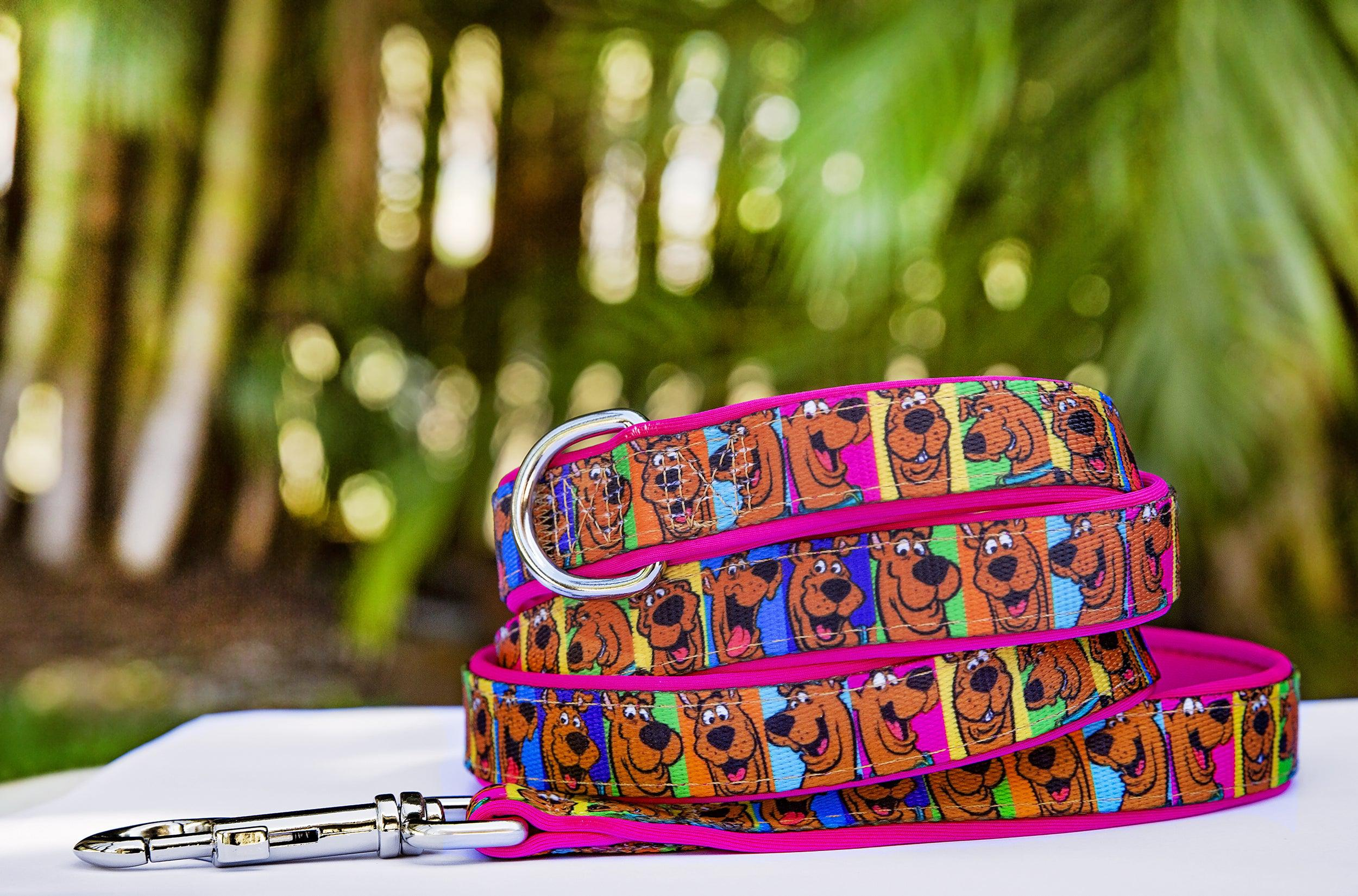 Scooby Doo Dog Lead (Premade) Pink-Dizzy Dog Collars