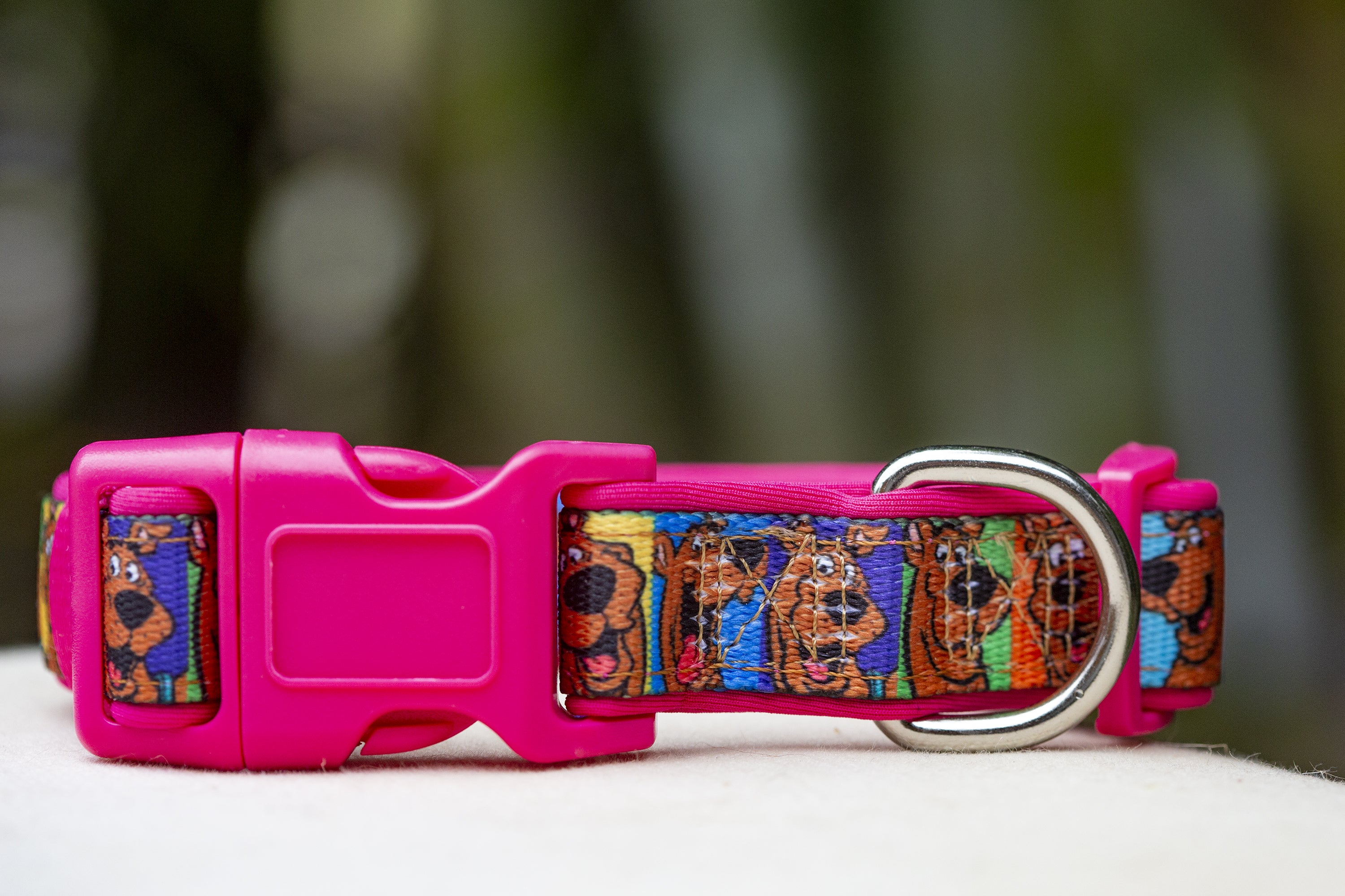 Scooby Doo Dog Collar (Premade) Pink-Dog Collar-Dizzy Dog Collars