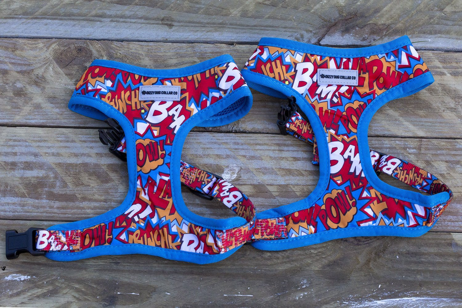 Pop Art Fabric Dog Harness-Dizzy Dog Collars-Dizzy Dog Collars