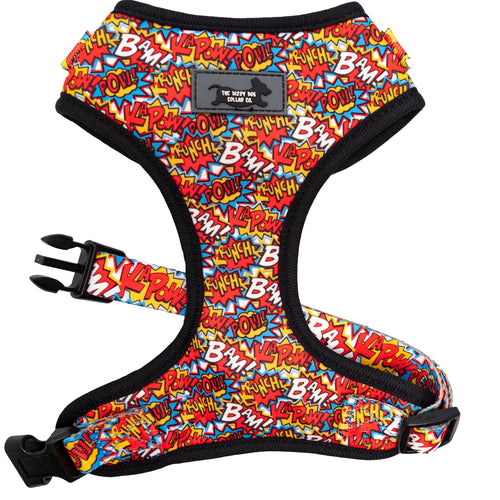 DOG HARNESS - Pop Art- Neck Adjustable Harness (Premade)