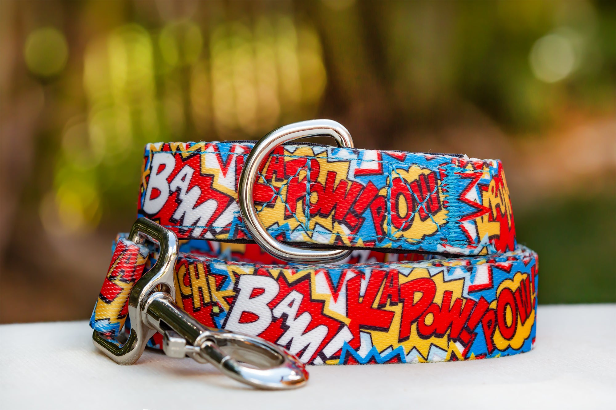Pop Art Dog Leash (Neoprene)-Dizzy Dog Collars-Dizzy Dog Collars