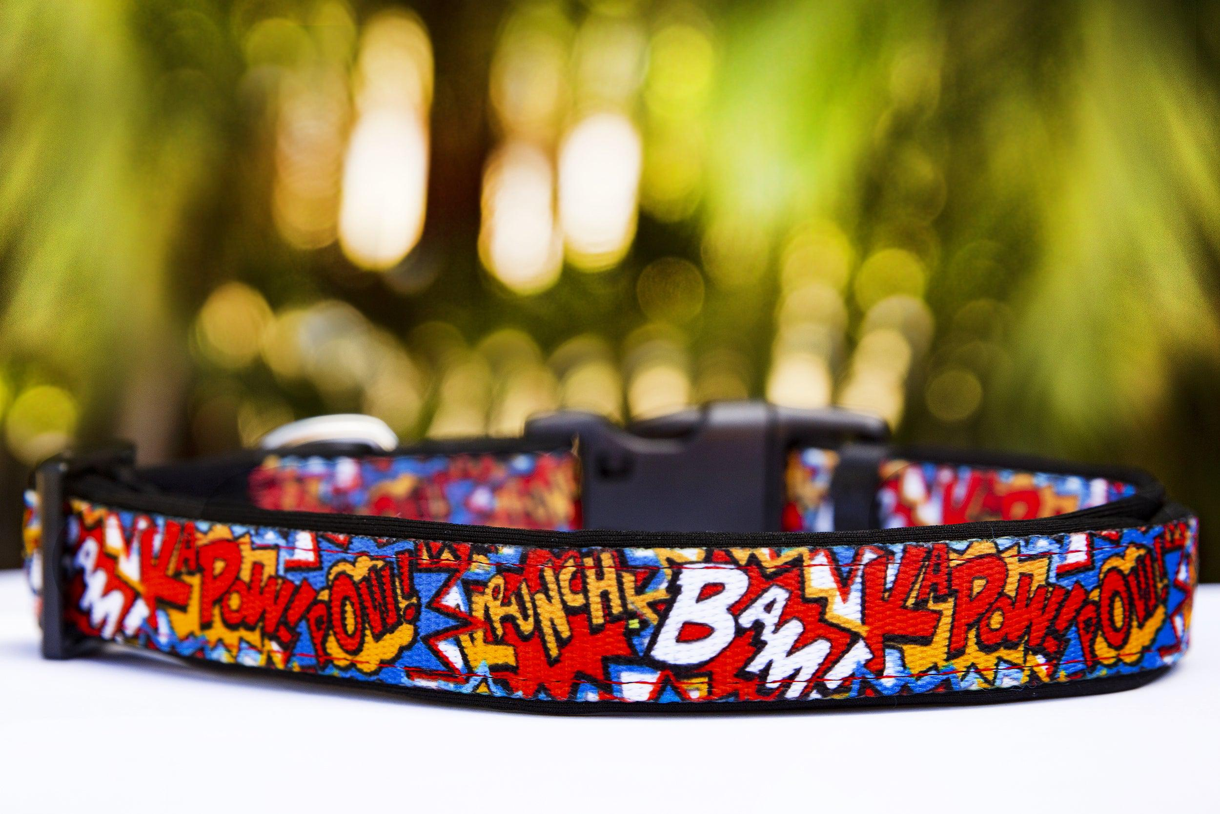 Pop Art Dog Collar (Premade)-Dog Collar-Dizzy Dog Collars