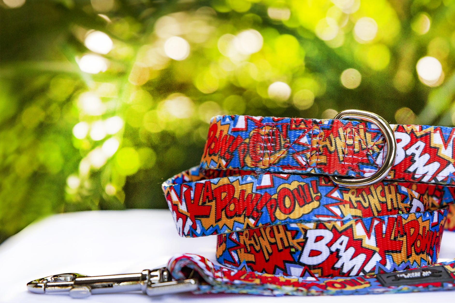 Pop Art Dog Leash (Premade)-Dizzy Dog Collars