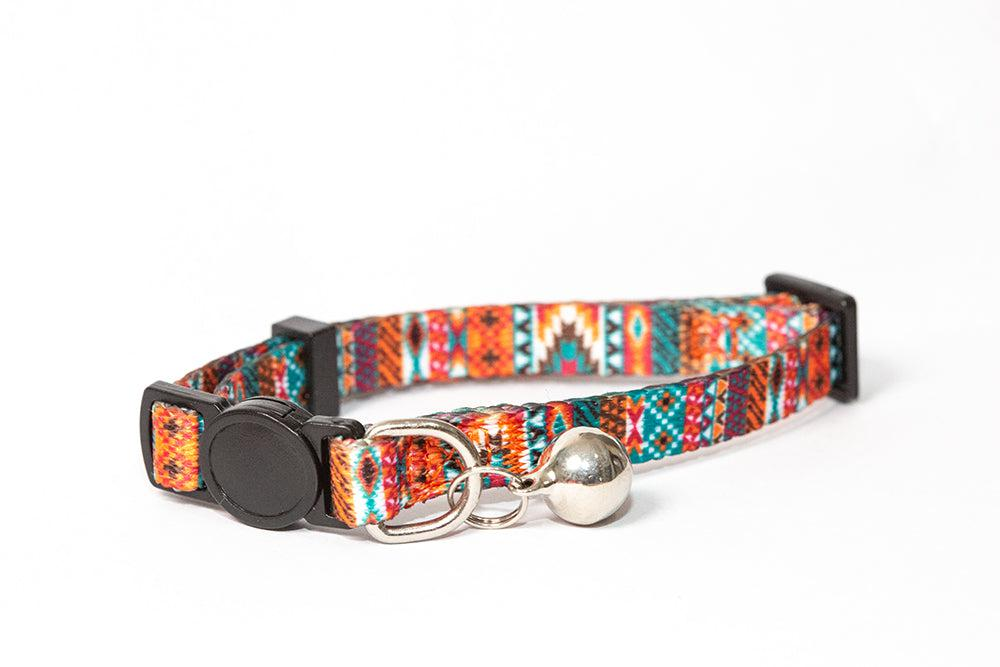 Aztec Cat Collar / Toy Breed Dog Collar-Dizzy Dog Collars