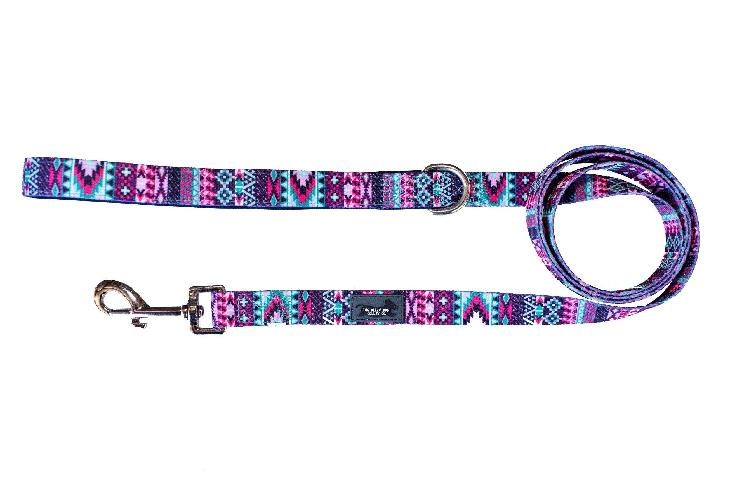 Purple Aztec Dog Leash-Dizzy Dog Collars-Dizzy Dog Collars