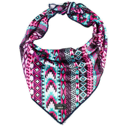 Purple Aztec - Tie Up Dog Bandana