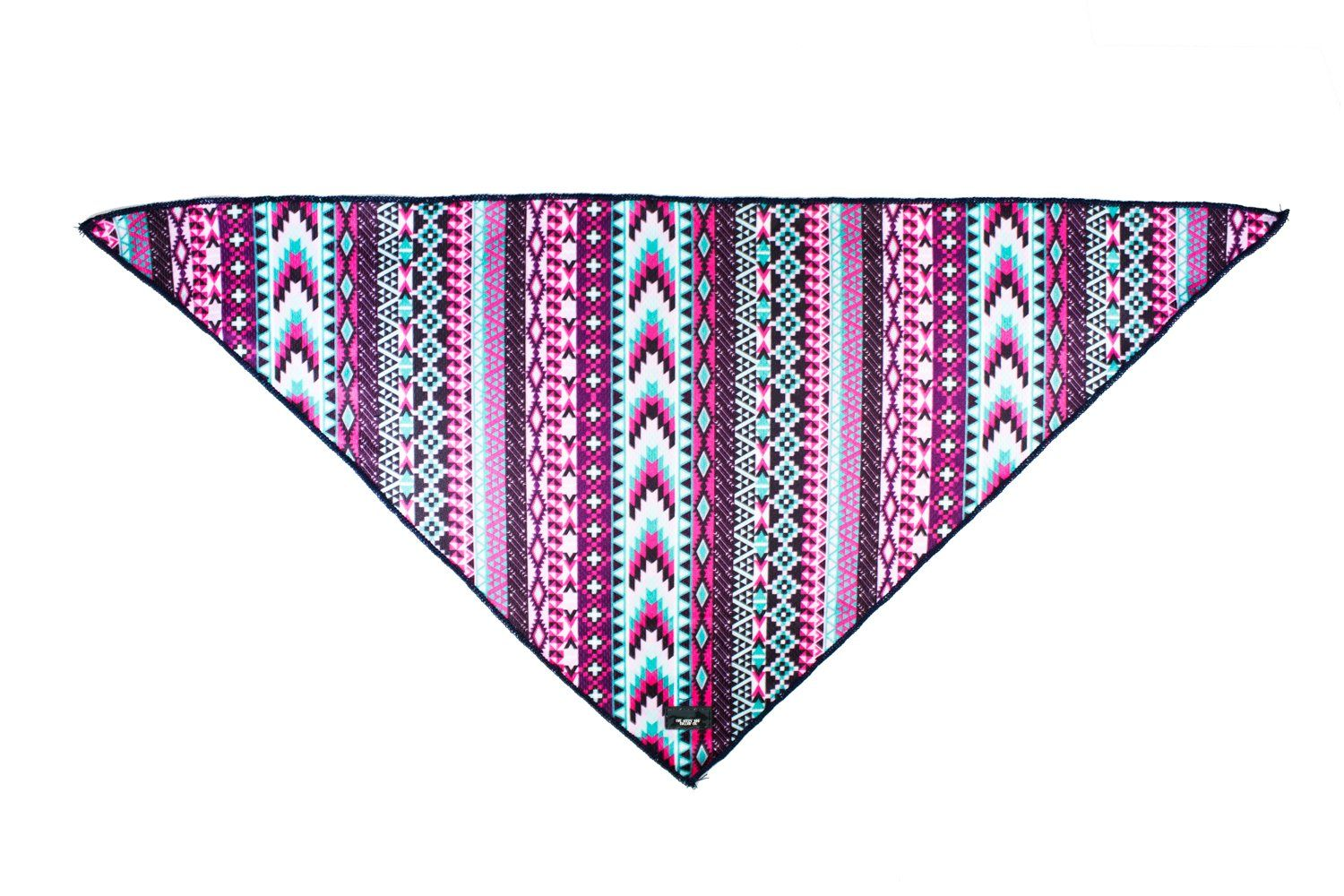 Purple Aztec - Tie Up Dog Bandana-Dizzy Dog Collars-Dizzy Dog Collars