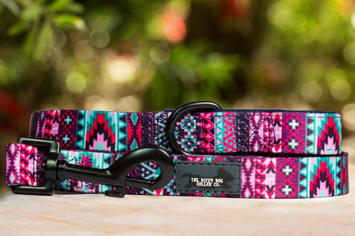 Purple Aztec Dog Leash