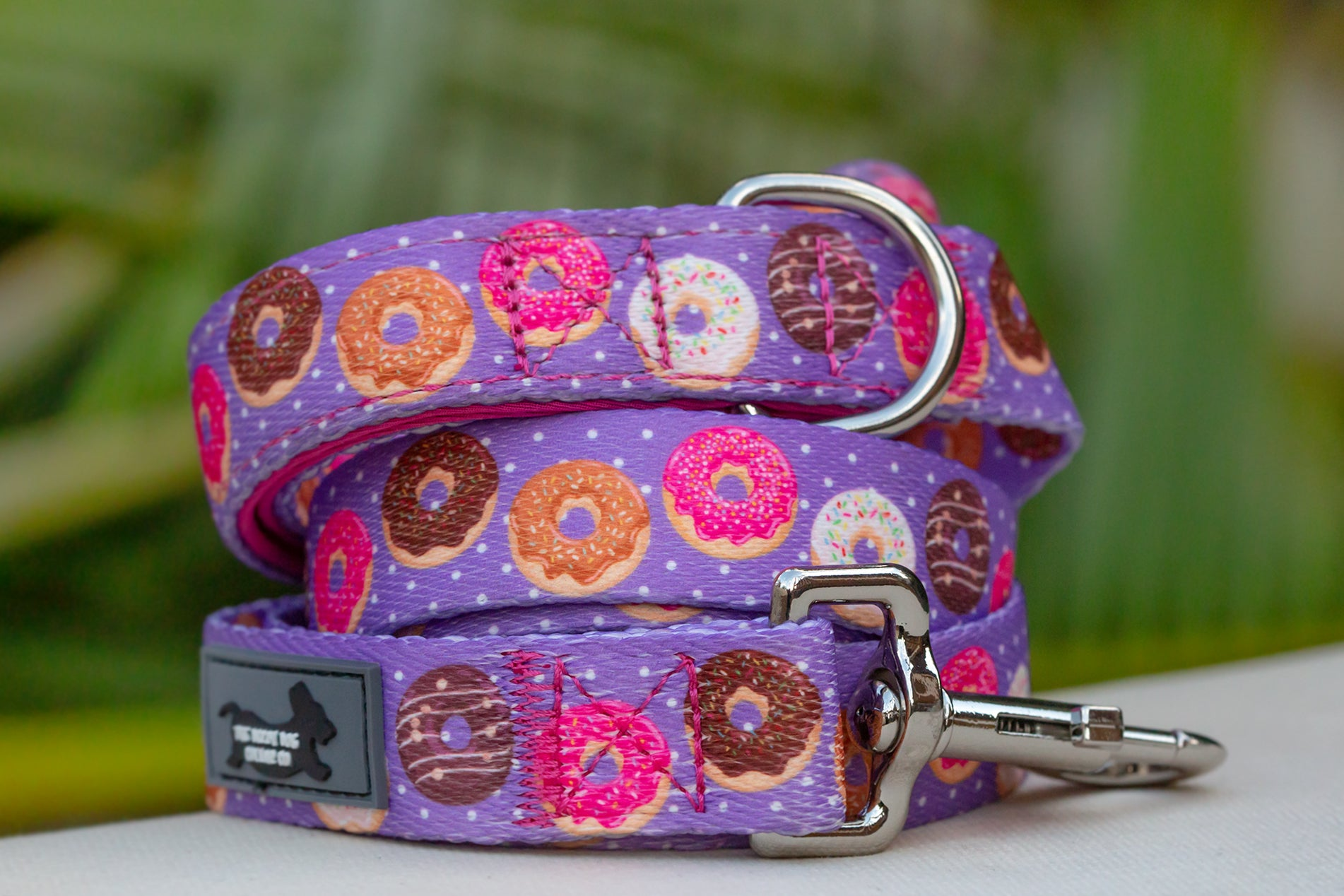 Purple Donut Dog Lead, Purple Dog Leash-Dizzy Dog Collars-Dizzy Dog Collars