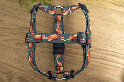 Step In Dog Harness - Red Panda (Handmade to order)
